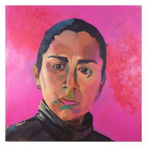 Veronica Marin Vogel 2 by 2, 2019, Acryl auf Leinwand, 200 × 200 cm