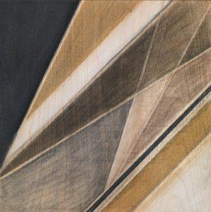 Aruna Samivelu, 20180502, Kohle und Grafit auf Holzfurnier 30 × 30 cm; Foto: Bernd Borchardt